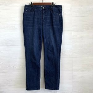 J Jill Smooth Fit Straight Leg Dark Blue Jeans